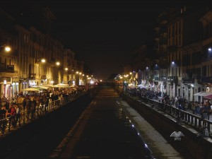 Navigli Canals in Milan by night