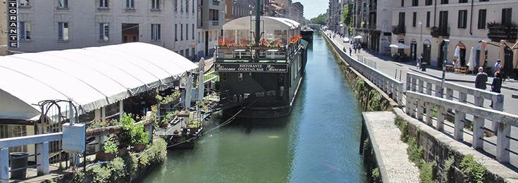 Navigli city area in Milan