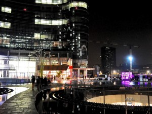 Porta Nuova district in Milan by night