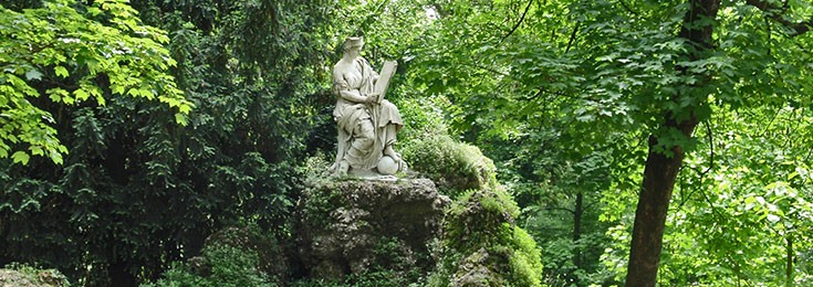 Public gardens Indro Montanelli in Milan