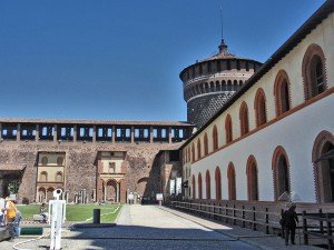 Inside of the Sforza Castle