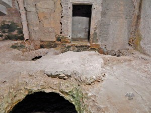 Underground passages of the Balbi Crypt in Rome