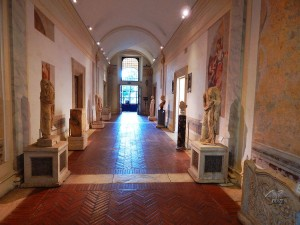 Collection of sculptures at Baths of Diocletian