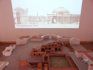 Model of once colossal Baths of Diocletian in Rome