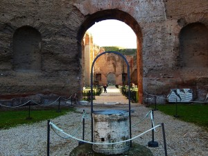 Ancient Baths of Caracalla in Rome