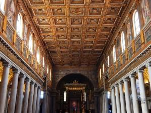Inside of the Basilica Santa Maria Major