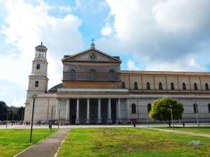 Entrance to the Basilica of Saint Paul in Rome