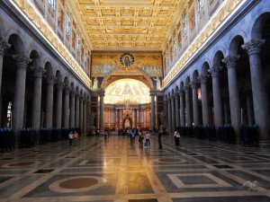 Inside of the Basilica of Saint Paul in Rome