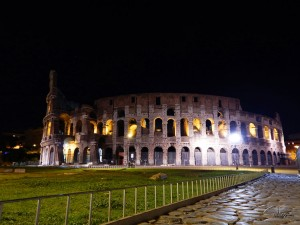 Coliseum in Rome by night