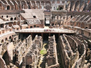 Interior of the Coliseum in Rome
