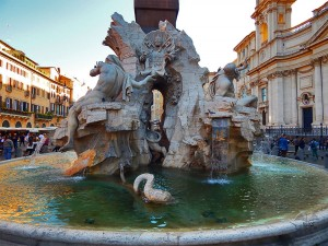 Fontana četiri reke na trgu Navona u Rimu