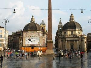 Piazza del Popolo or People's Square in Rome