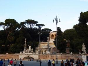 Terraca del Pincio, great view point on Piazza del Popolo