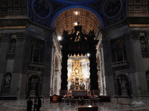 Interior of the St Peter's Basilica