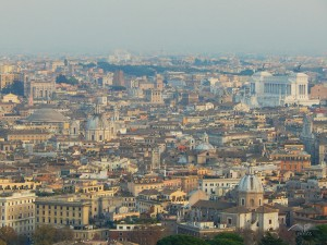 Breathtaking view from the dome of the St Peter's Basilica