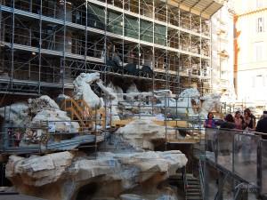 Radovi na rekonstrukciji fontane Trevi