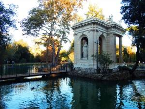 The artificial lake in Villa Borghese Park