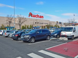 Parking of the Auchan shopping mall in Venice