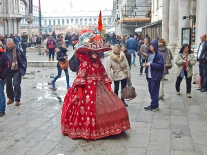 Beautiful mask and costumes of the Venetian Carnival