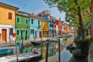 Burano Island in the Venetian lagoon