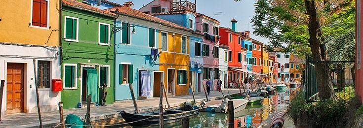 Burano Island in Venice
