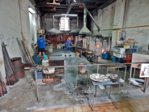 Murano glass factories in Venice