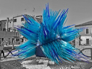 Glass comet on Murano Island
