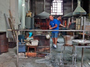 Murano glass factories in Venice