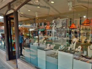 Murano glass stores on Murano Island