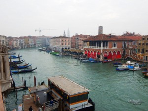 View from one of the terraces of Ca'd' Oro building in Venice