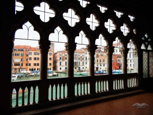 One of the terraces of the gallery Giorgio Franchetti in Venice