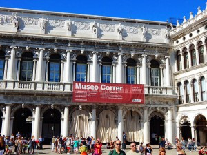 Entrance of the Museum Correr in Venice
