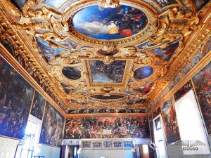 Beautiful frescoes of the Doge's Palace