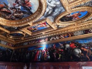 Beautiful frescoes of the Doge's Palace