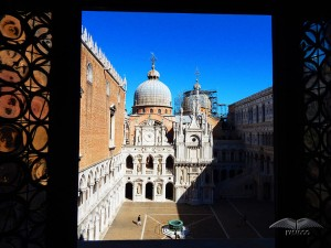 Courtyard of the Doge's Palace in Venice