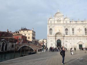 Fasada zgrade Velike škole San Marko u Veneciji