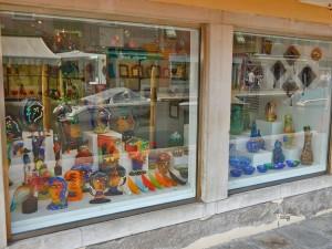 Murano glass store on Murano Island in Venice