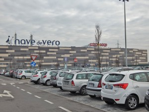 Parking of the Nave de Vero shopping mall