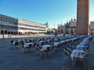 One of the bars on Piazza San Marco