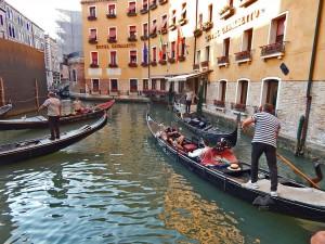 Venetian gondolas at Bacino Orseolo