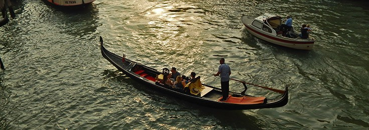 Venetian Gondolas and gondoliers