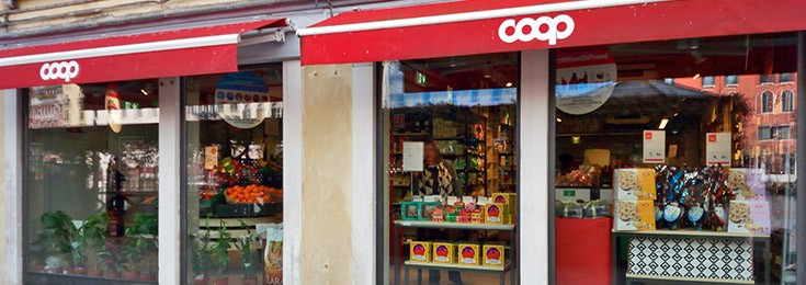 Coop supermarket near Rialto Bridge