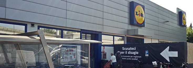 Lidl supermarket in Mestre Venice
