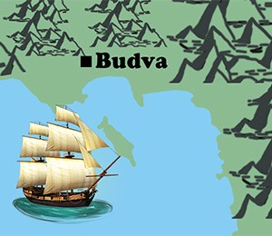 Map of Budva