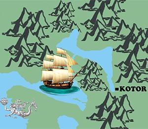 Mapa Kotora