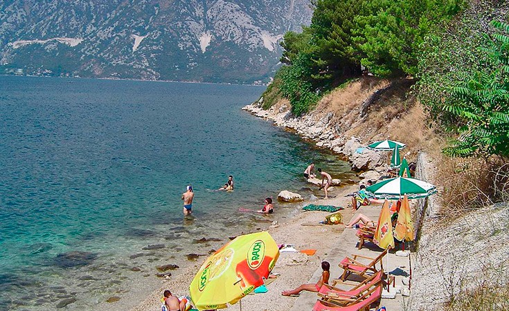 Perast beaches