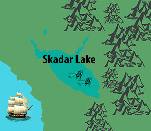 Map of Skadar Lake