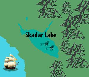 Mapa Skadarskog jezera