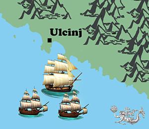 Mapa Ulcinja
