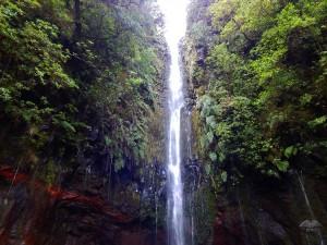 Twenty meters high waterfall on Rabacal trail